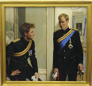 London Thoughts Portrait Prince Harry And Price William