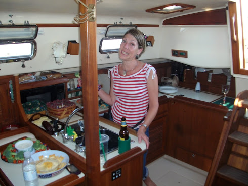 The lady rules the cabin and galley