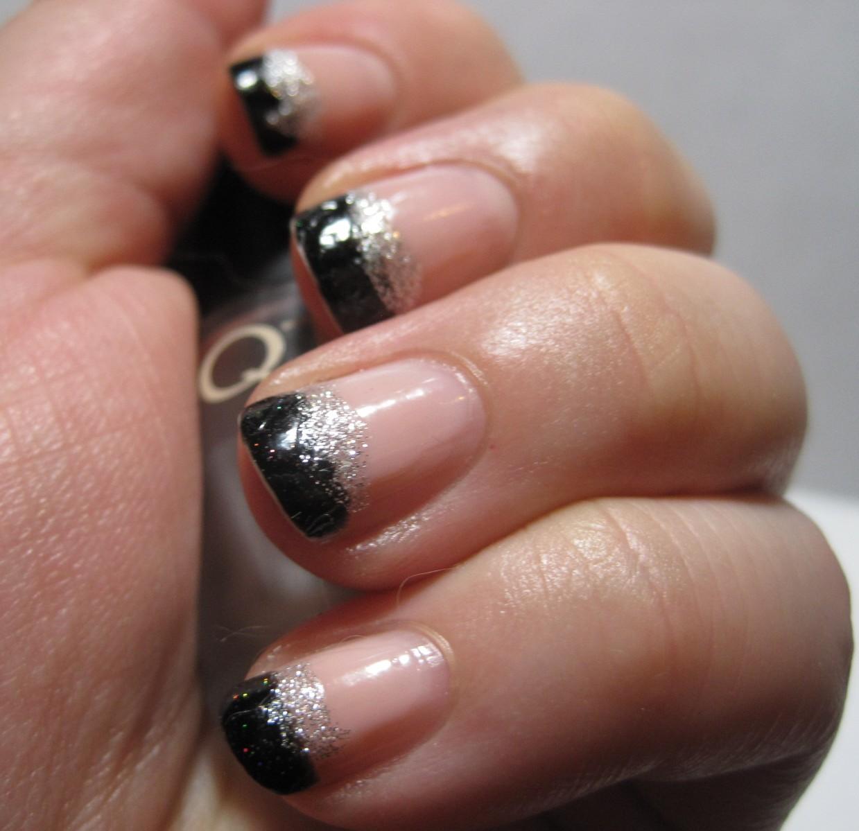 Fantastic Black French Tip Nails Motif - Nail Art Design Ideas ...