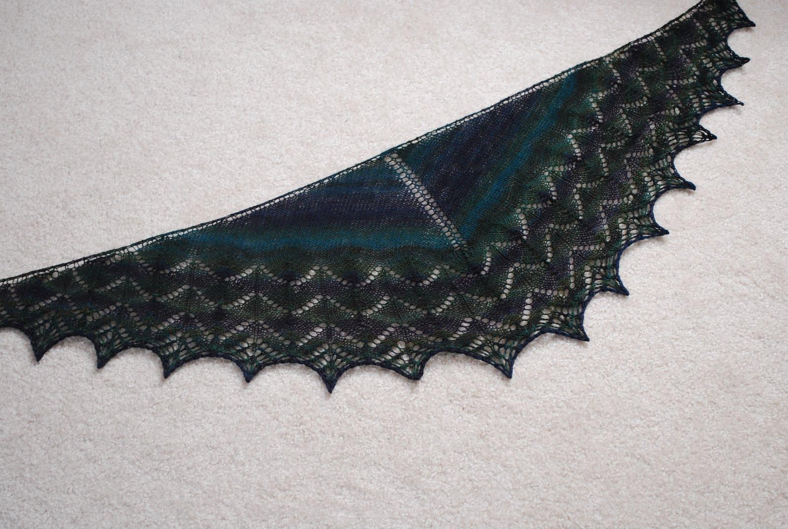 Knit/Wit: A Striped Shawlette