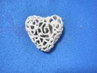 9A corazon cocido   Pendientes con forma de corazón (*)