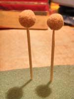 Bolas corcho   Pendientes esféricos huecos (*)