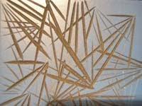 Linoleo colgante circular   Pendientes circulares y relieves
