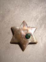 13 colgante estrella con piedra envejecida   Colgante de estrella con piedra