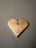 15 papel lija 2   Colgante corazón plano
