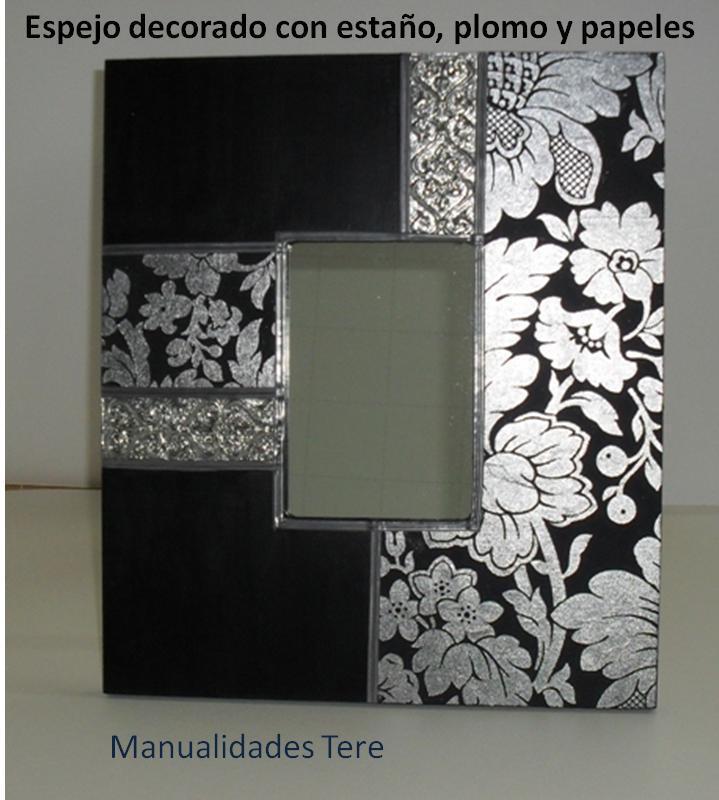 Manualidades bellas artes y enmarcacion tere mota cuadros y espejos decorados - Manualidades decorar marcos para cuadros ...