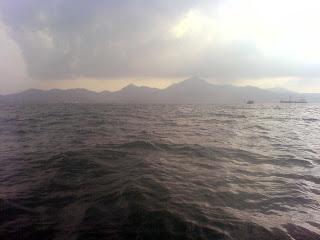 Ombak Sore sekitar Pulau Panjang