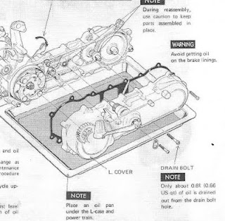 1978 Honda Express 1 - It Is Recommended That You Drain Your Transmission Oil And Replace With New Oil Every Months Or Miles Regular Service Period Change At Month Or - 1978 Honda Express 1