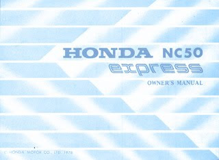 1978 Honda NC50 Express Owner's Manual Official