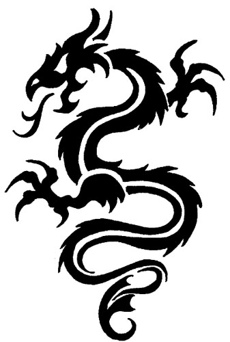 Simple Tribal Dragon Tattoo