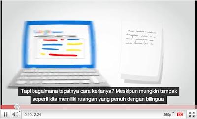 Google Translate untuk Caption Video YouTube