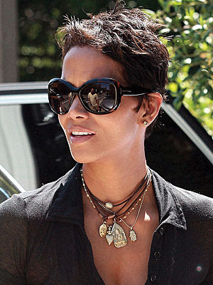 lady gaga hairstyles short. halle berry short haircut.