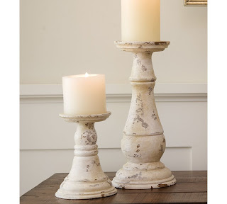 Their Description The Curving Forms Of A Grand Balustrade Were Re Created By Artisans To Form Our Hand Turned White Candleholders