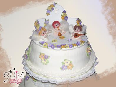 torta para bautismo de dos pisos ideal nenas se puede adaptar para