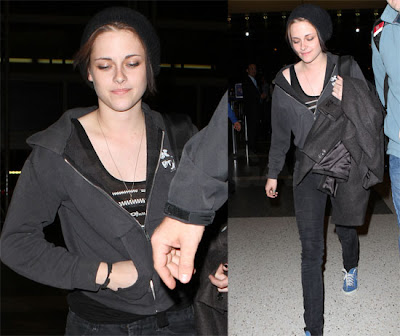 New Pics: Kristen Stewart Steps Out All Covered Up at LAX!