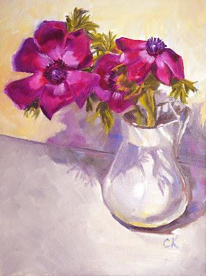 Connie Kleinjans painting: Anemones
