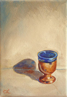 Connie Kleinjans: Original oil painting, Corsican Goblet, 5x7