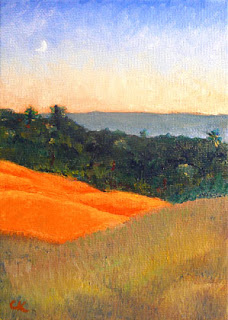 Connie Kleinjans: Original oil, Glowing Hillside