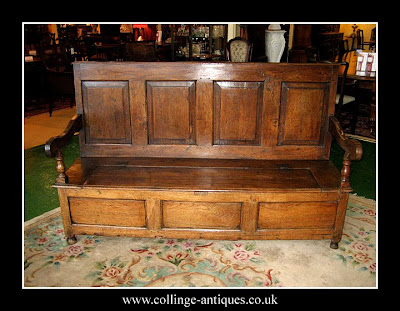 antique box seat