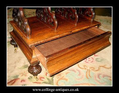 antique rosewood canterbury