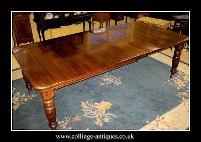 antique mahogany dining table