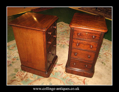 small mahogany bedside drawers