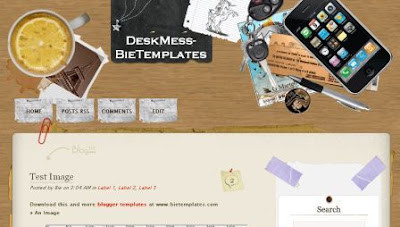 desk blogger template