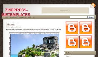 zinepress blogger template