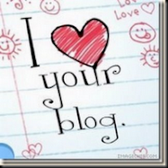 My I Love Your Blog Award