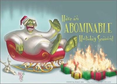 Abominable Snowman Greeting Cards (Pk of 10)