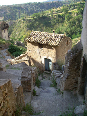 abandoned stone house, calabria, southern italy