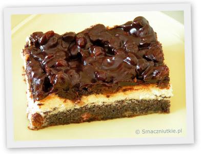 Ciasto makowo-serowe w odświętnej polewie czekoladowej