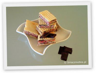 Wafle czekoladowe - smaczniutkie także i dzisiaj