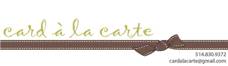 Card à la Carte en français