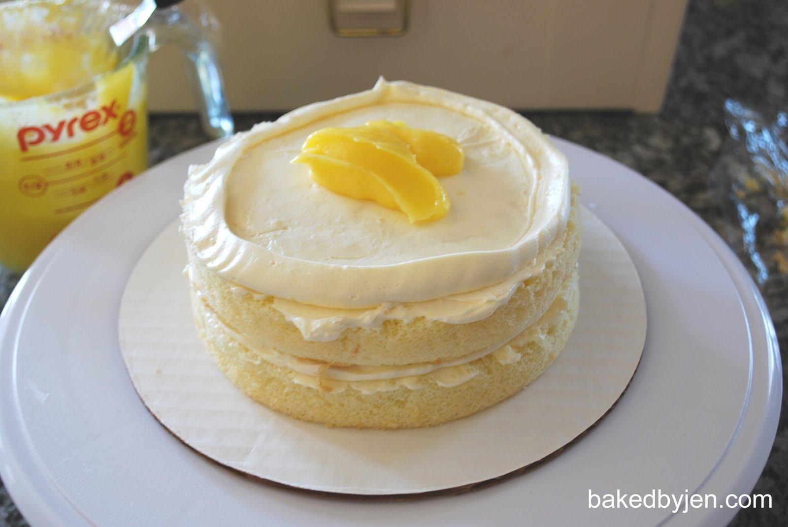 Baked by Jen: Lemon Chiffon Cake
