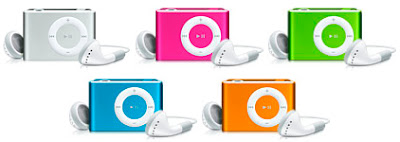 colored ipod shuffles