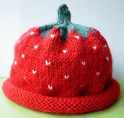 Knitting Pattern For Strawberry Hat : KNITTING PATTERN FOR A STRAWBERRY HAT   KNITTING PATTERN