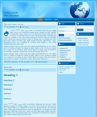 3 column free drupal business theme