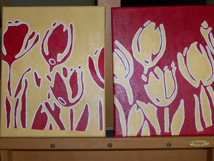 Tulipes en inversé