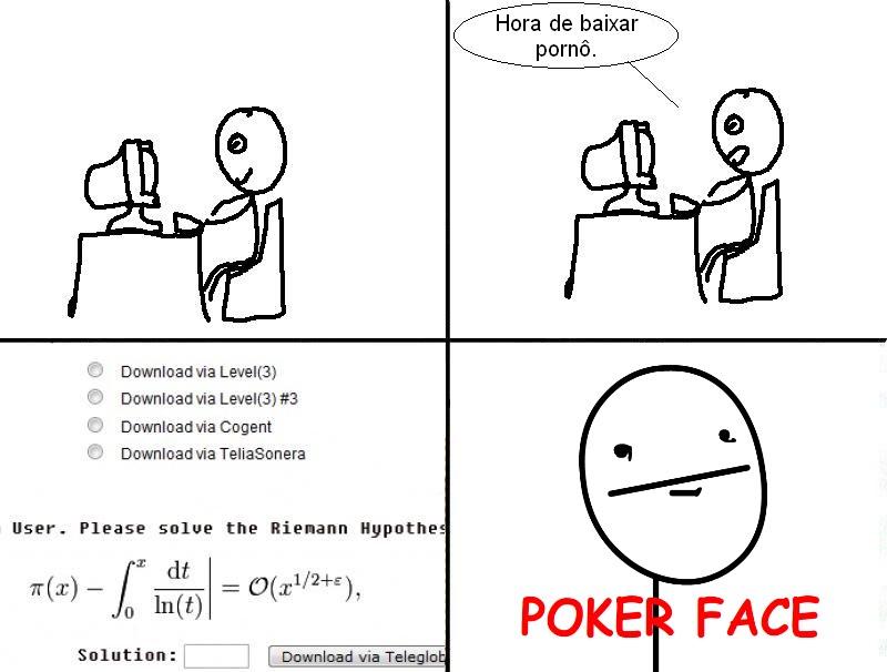 I have no poker face