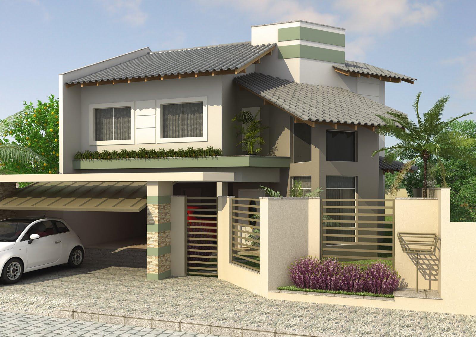 Pin modelos fachadas de casas bonitas e modernas 1 150x150 for Modelos de casas modernas