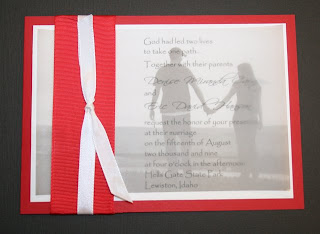 Passionate Red Wedding Invitations Design