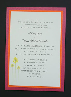 Nice Pink Wedding Invitations With Yellow Flowers Ornaments