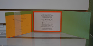 Orange Green For Fun Wedding Invitations Cards