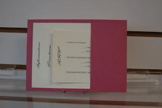 dark pink wedding invitations