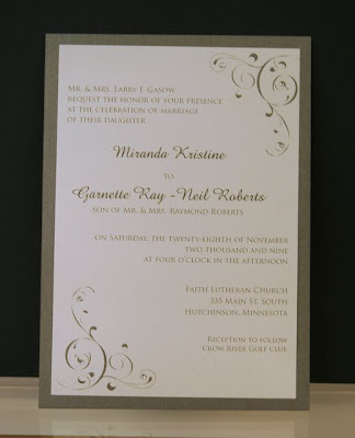 white simple elegant wedding invitations