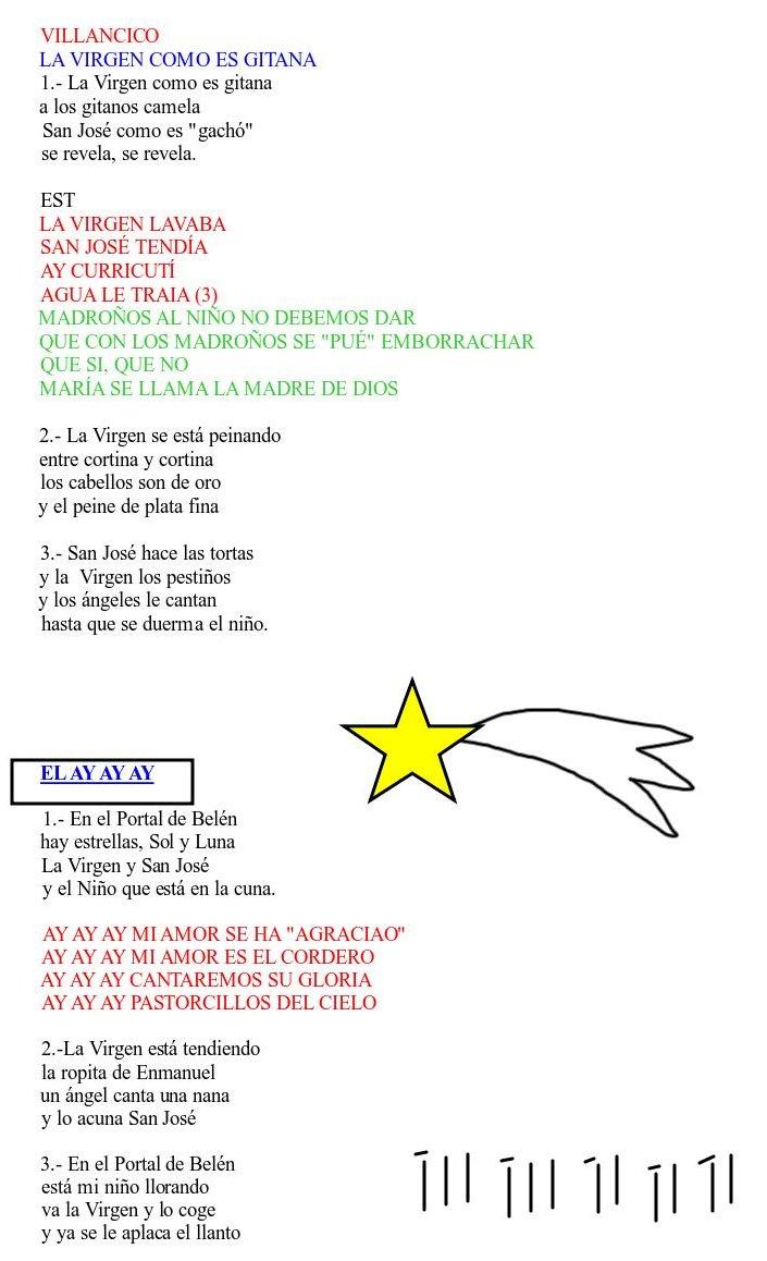 letra y musica de villancicos navidenos: