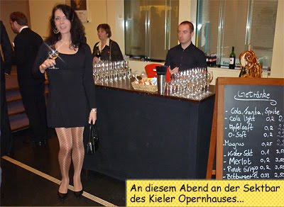 Svenja in der Kieler Oper zu Aida
