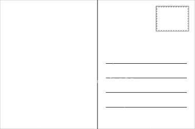 printable blank postcard template
