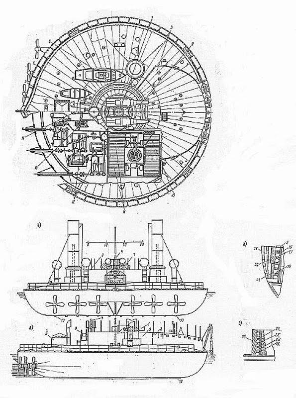 Le cuirassé le plus étrange de tous les temps (Novgorod, Popovka) Novgorod+blueprint